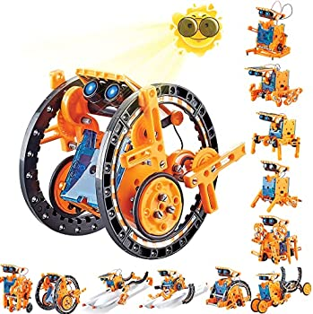 Kidpal 12-in-1 Solar Powered Robot STEM Toy Set