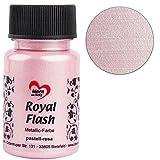 Royal Flash, Acryl-Farbe, metallic, mit feinsten Glitzerpartikeln, 50 ml (pastell-rosa)