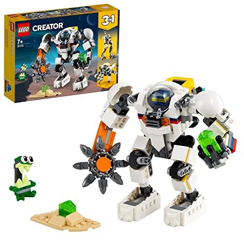 LEGO 31115 Creator 3-In-1 Weltraum-Mech Spielzeug mit Roboter und Lastenträger, Bauset mit Actionfigur und Alienfigur, tolles Geschenk für Kinder