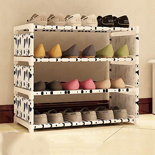 QFFL Étagère à chaussures multicouche étagère à chaussures en tissu étagère à chaussures chambre multifonctionnelle étagère à chaussures maison étagère à chaussures simple Range-chaussures