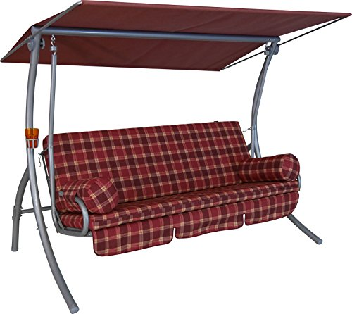 Angerer Dream Hollywoodschaukel 3-Sitzer Design Rio, bordeaux, 210 x 145 x 160 cm, 1941/052/39