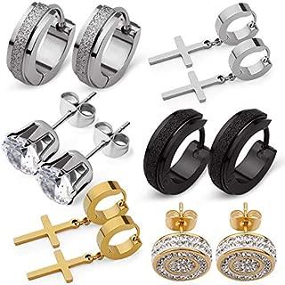 6 Pairs Stainless Steel Earrings for Men Women| Premium...