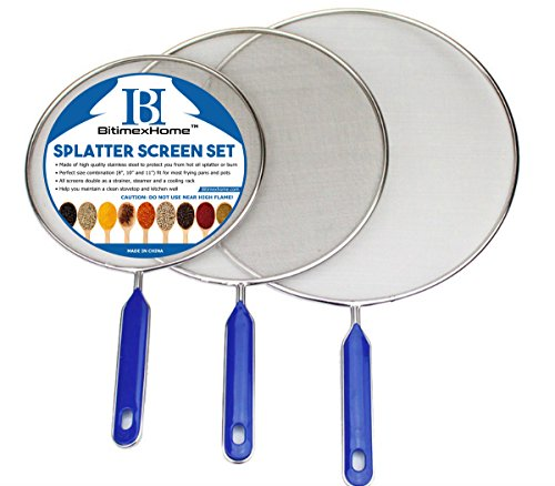 BitimexHome Store Grease Splatter Screen for Frying Pan Cooking