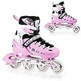 Nils NH10905 - Pattini in linea regolabili 4 in 1, per sport e hockey su ghiaccio, per ragazze e ragazzi e donne, taglia M (35-38)