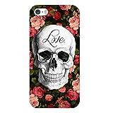 Coque Iphone 7 Plus Iphone 8 Plus Tete de Mort Love Fleur Liberty Skull