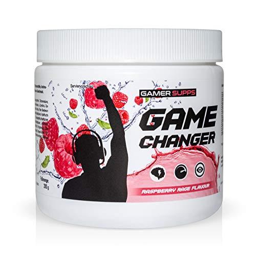 Gaming Booster GAME CHANGER von GAMER SUPPS   eSports Energy Drink Pulver   Wenig Kalorien   Wenig Zucker   280g   40 Portionen