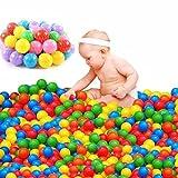 CHRONSTYLE Bolas Marinas Juguete de los Niños, Pelotas 100 PCS Multicolores de Plástico del Océano Gracioso para Piscina Infantil Regalo para Niños Bebé
