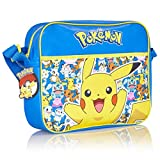 Pokemon Pikachu Messenger Bag for School Or Travel with Glow in The Dark Pikachu | Back to School Crossbody Shoulder Bag, School Bags for Boys, Courier Bag, | Gift for Boys