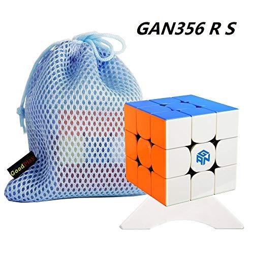 OJIN Ganspuzzle GAN356 R S Numerical IPG V5 Speed Cube 3x3 GAN356 R The Enhanced of Gan356R S Magic Cube Puzzle con un trípode de Cubo y una Bolsa de Cubo (Sin Etiqueta)