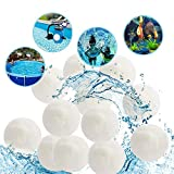 T-PERFECT LIFE 1.5 lbs Pool Filter Balls Eco-Friendly Fiber Filter Media for Swimming Pool Filrers Sand Aquarium Filters Alternative to 50lbs Silica Sand (2.8lb)