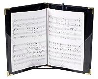 Marlo Plastics Premium Choral Folder 7-3/4 x 11 Octavo Size with Elastic String Holders - Black by Marlo Plastics