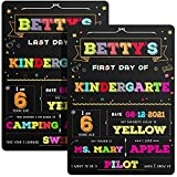 First and Last Day of School Sign First Day of School Chalkboard Photo Sharing Chalkboard Sign Erasable and Reusable Back to School Board Double Sided Photo Prop for Pre-K, Kids, 13.8 x 10 Inch