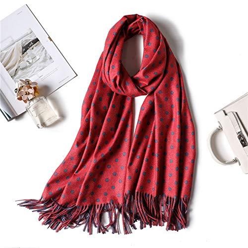 MYTJG Lady sjaal winter dames sjaal Dot lange warme sjaal voor dames sjaal en verpakt dikke zachte hoofddoek