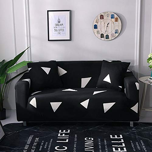 Housse de canapé Extensible à Carreaux pour Le Salon, Protecteur de Meubles antidérapant, qualité Durable, résistant aux Plis A20 2 Places