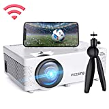 【2019 New Tech】VicTsing Wifi Projector, Screen Mirroring & Bluetooth Function, 3600 Lux Wireless