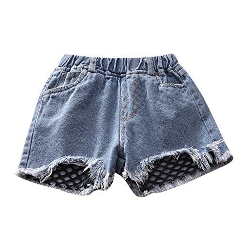 Julhold kleine kinderen baby meisjes kleding visnet denim shorts korte jeans broek zomer mode cool 2019