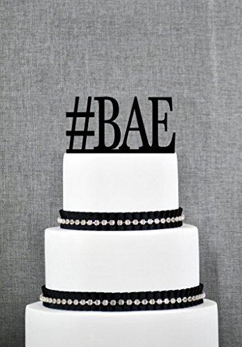 Etiqueta Hash Bae Boda decoración para Tarta para decoración Antes Que Nadie Social Boda Topper en Color de su elección Moderno Tarta de Boda