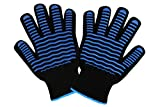 ETHDA Extreme Heat Resistant 932°F Gloves, Cut Level 3 Protection Mitts, Good for Cooking, Grilling, Baking, Oven, Fireplace,BBQ,Smoker, Protect Hands, Gift for Mom, 1 Pair (One Size Regular Cuff)