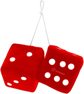 Zone Tech Red Hanging Dice- A Pair