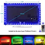 USB TV Backlight Kit, 9.8ft USB Bias Lighting 20 Colors 5050 RGB Led Strip Light...