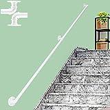 ZCFXGHH Pasamanos Pasamanos De Escalera Antideslizante contra La Pared, Pasamanos De Seguridad En El Ático Interior para Ancianos Y Niños, Kit De Pasamanos De 30~600 Cm |,Blanco,6ft/180cm