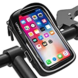 <span class='highlight'><span class='highlight'>LEMEGO</span></span> Waterproof Bike Phone Mount Holder Pouch Bag,Universal Bicycle Rear Handlebar Pouch with Water Resistant Frame Transparent Touchable 360 Degrees Rotatable For Under 6 Inchs Smartphone(Gray)