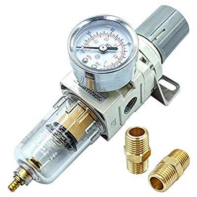 "Tailonz Pneumatic 1/4""NPT Air Filter Pressure Regulator, Water-Trap Air Tool Compressor Filter with Gauge from Tailonz Pneumaitc"