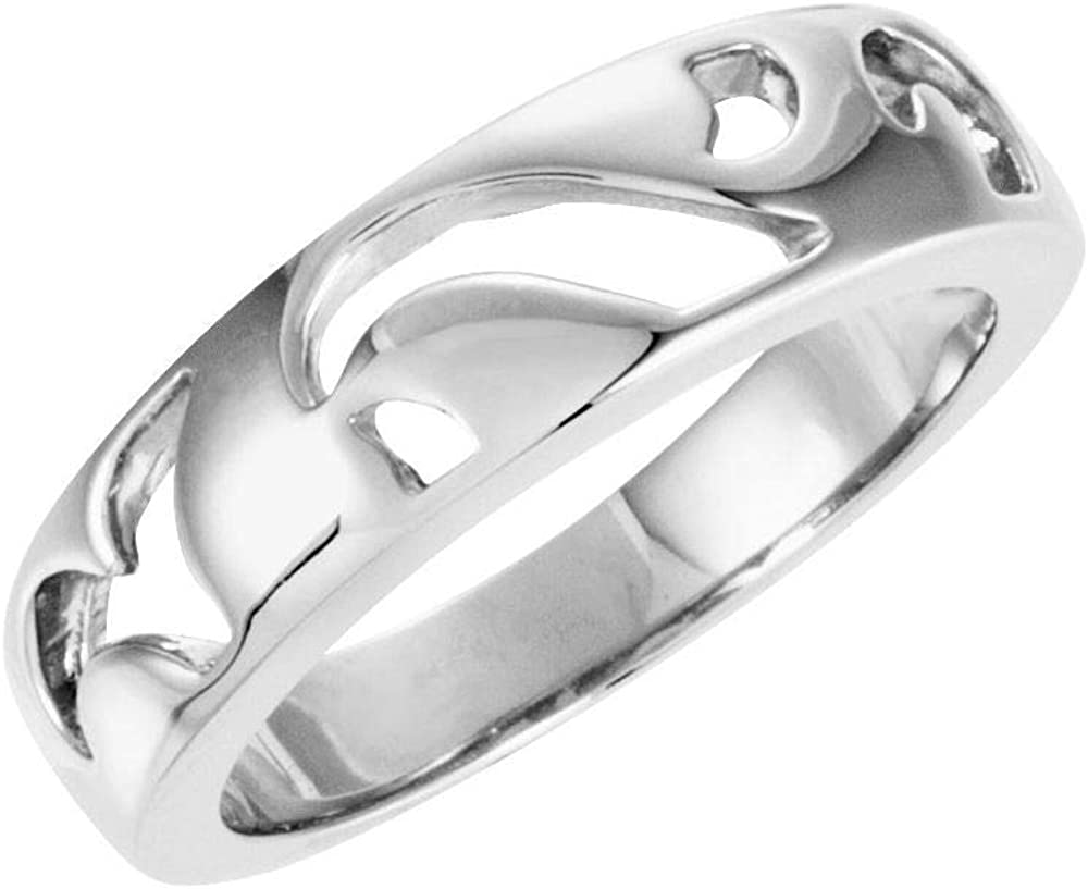 5mm Pierced Stackable Wedding Anniversary Ring Band