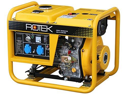 Rotek Schallgedämmter Diesel Stromerzeuger GD4SS-1A-13000-ES (13,7 kVA / 11kW 230V 50Hz 1-phasig)