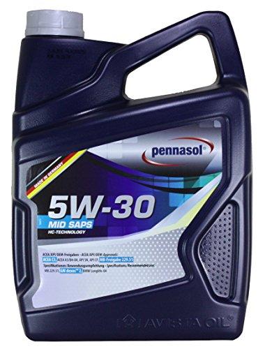 Pennasol Mid Saps SAE 5W-30 Motoröl, 5 Liter
