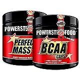 MUSCLE PACK   300 capsules BCAA CAPS et 300 capsules PERFECT MASS CAPS à haute dose   Le meilleur complexe d'acides aminés pour fournir en peu de temps avant et immédiatement après l'entraînement