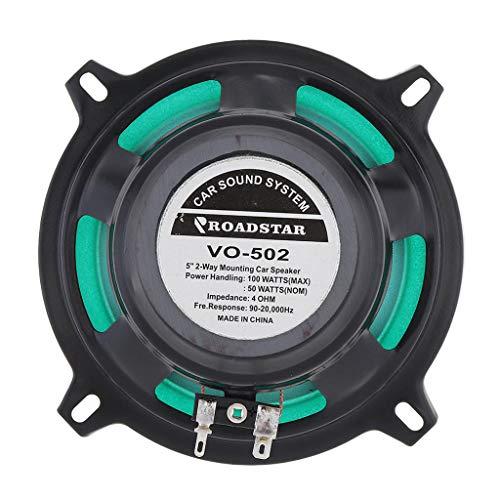 MERIGLARE Altavoces de Audio Automático de Rango Completo de 5'y 2 Altavoces de 100 W