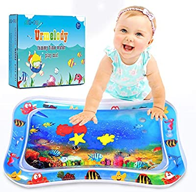Water Play Fun Mat Infants Toddlers Tummy Time Play Activity Center Inflatable