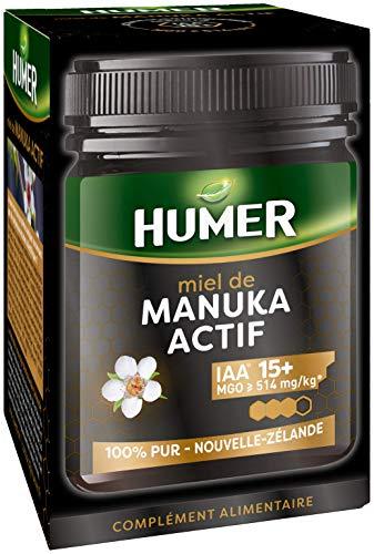Humer IAA® 15+ – Miel de Manuka Activo – Tercer nivel de actividad – Mínimo 514 mg/kg de metilglicoxal – 250 g