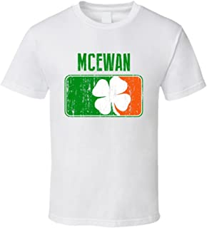 McEwan Distressed Ireland Irish Family Custom St Patricks Day Flag T Shirt