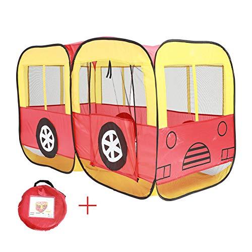 Grandes Tiendas Campaña De Juegos para Niños Plegables, Modelo De Autobús Casa De Juegos De Interior Juguetes para Niños Casa De Gran Tamaño Portátil Al Aire Libre, Regalo para Niños Niñas