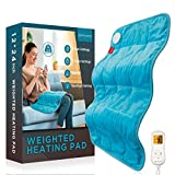 """Weighted Heating Pad, Comfytemp 12x 24"""" Electric Heating Pad for Back Pain Relief with 9 Heat Settings 