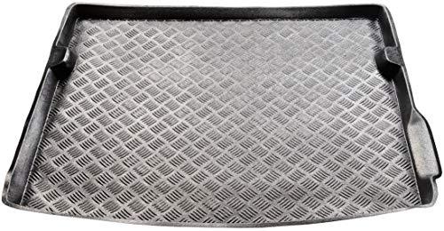 Protège-coffre en PVC compatible avec Dacia Duster II 4 x 4 (à partir de 2018) + cadeau - Tapis de coffre de voiture - Accessoires - Idéal pour chiens et animaux