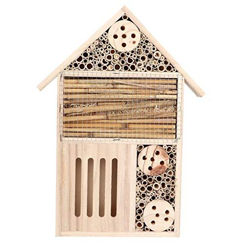 Garten im Freien Holz Insekt Bienenhaus Imkerei liefert Holz Bug Room Shelter Nistkasten für Gartendekoration(1#)