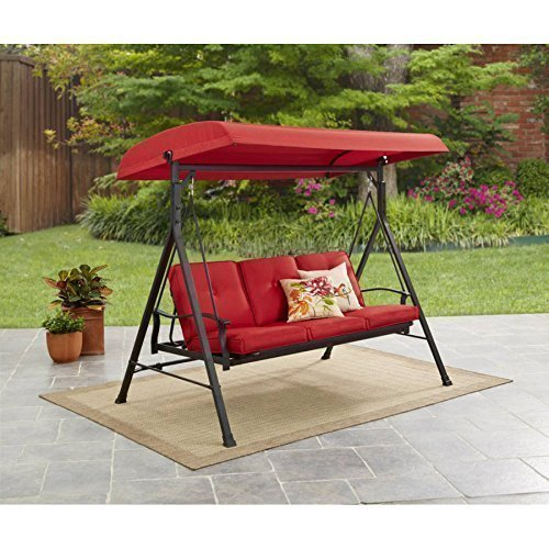 Mainstays furniture New Belden Park 3-Person Hammock Swing (Red)