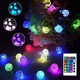 40er LED Kugel Lichterkette Bunt, 16 Farben Knistern Kristall Globe Lichterkette Batterie & USB, 4M...