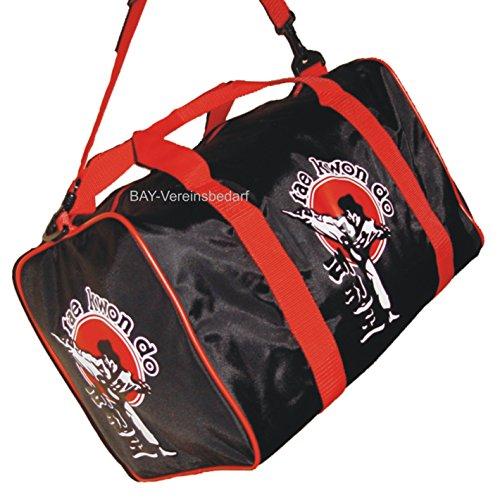 BAY® Sporttasche Taekwondo Tae Kwon Do, Taekwon Do, Trainingstasche, Tasche, schwarz/rot, 50 cm