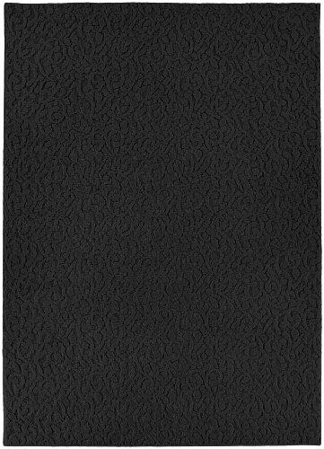 Garland Rug Ivy Area Rug, 6-Feet by 9-Feet, Black