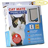 Cat Mate Self Lining Lockable Cat Door - White Self Lining Cat Door - Pack of 12