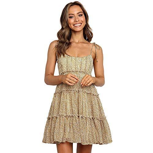 NOBRAND 2020 Vestido de Mujer Sling de Europa y América Falda de Pastel de múltiples Capas de Cintura Alta Floral Fresca pequeña