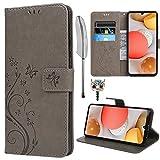 Archi - Custodia per Samsung Galaxy A42 5G, in pelle PU, con scomparti per carte di credit...