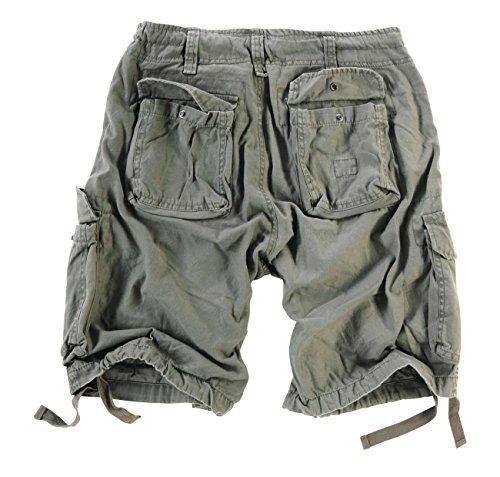 Surplus Surplus Herren Airborne Vintage Cargo Shorts, Oliv, Gr. S