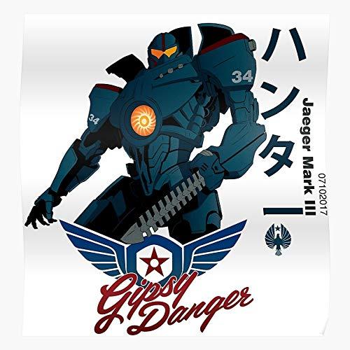 Jaeger Anime Pacific Danger Robot Gipsy Japanese Rim El mejor y más nuevo póster para la sala de decoración del hogar de arte de pared