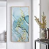 Koi Fisch Feng Shui Karpfen Lotus Teich Bilder Leinwand Malerei Wandkunst für Wohnzimmer Moderne Wohnkultur 60x120cm