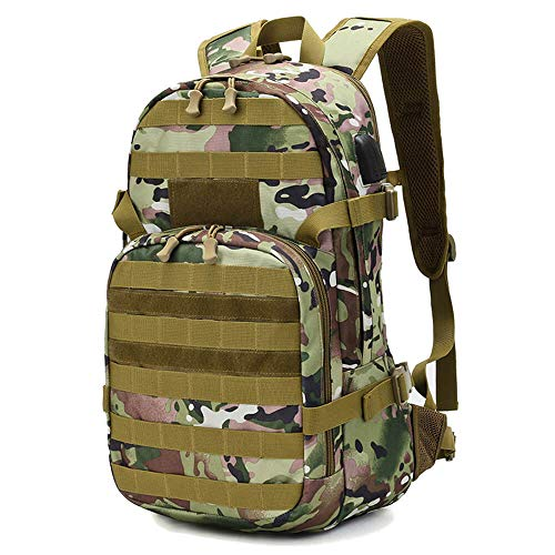25l Tactical Backpack, Molle Hiking Daypack, Military Backpack for Camping Hiking Military Traveling Motorcycle